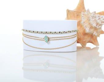 Tania Bolréalis - Swaroski woven bracelet