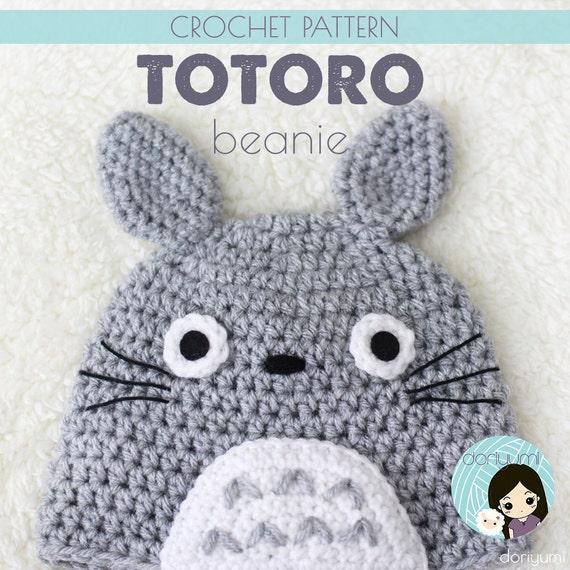 Crochet Pattern Totoro Hat : My Neighbor Totoro Beanie Hat Crochet Pattern