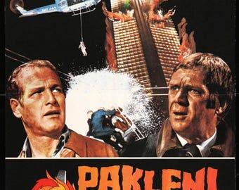 "The Towering Inferno (1974) Original Yugoslavian Movie Poster - 18""x 27"""