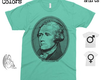 Alexander Hamilton T-shirt, Tee, American Apparel, Founding Father, America, Jefferson, Miranda, Musical, Cute Gift