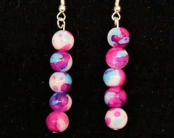 Tye dye earrings
