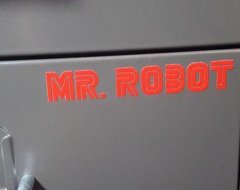 1 Mr. Robot Logo Red Vinyl Decal Sticker Oracal/Avalon