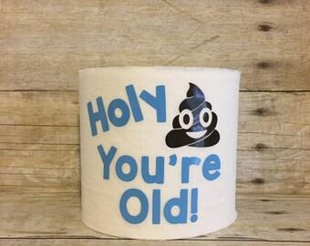 Birthday Gag Gift, Birthday Toilet Paper, Birthday Funny Gift , Over The Hill, Funny Toilet Paper, The Vinyl Attic, Birthday Gift, Gag Gift