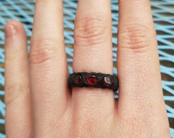 Garnet Hemp Ring
