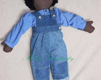 Fabric doll, handmade cloth doll, soft doll, gift doll, rag doll, custom-made doll