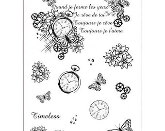 Floral Collage Timeless Floral clear stamp set from Imagination Crafts
