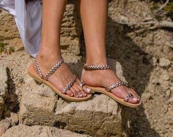Sandals,Greek sandals,Leather sandals,Women sandals,Strap sandals,Handmade sandals,Women shoes,Triskelion,Wedding sandals,ALCESTIS,