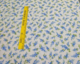 Wildflowers VII-Blue Flowers-Cotton Fabric from Moda