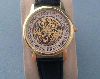 Harry Potter The Weasley family Clock inspired black strap Watch