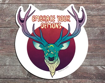 Embrace Your Demons Sticker