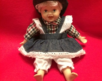 "GOFFA's Lucy from Americana Series, 8"" Porcelain Doll with Cloth Body"