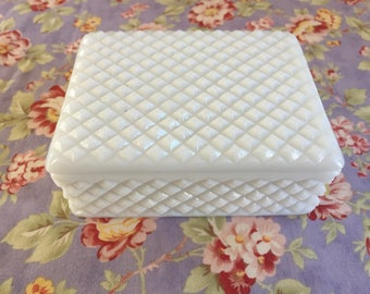 Westmoreland Milk Glass Trinket Box