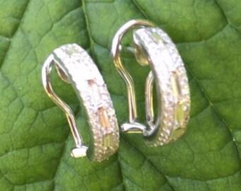 Gold Studded Diamond Earrings
