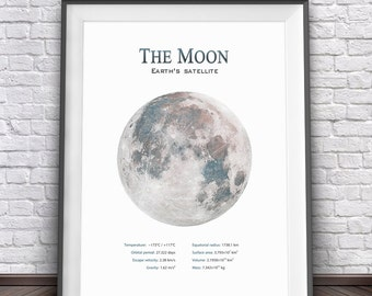 Full Moon Print • Moon Art Moon Photography Moon Decor Moon Printable Moon Poster Large Poster Moon Photo Space Art Space Print Large Print