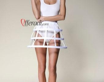 Simple White Modern Cage Skirt Festival Fashion