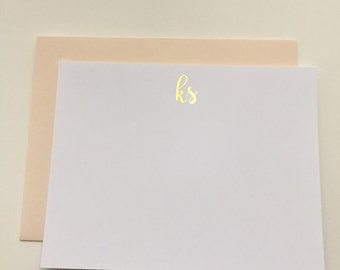 Foil Monogram Cards (set of 10)