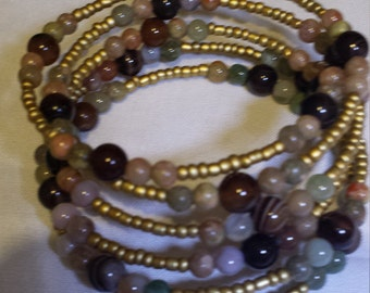 Mixed gemstones bracelet