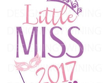 little miss 2017 New Years SVG PNG DXF file