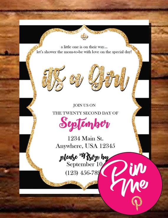 kate spade inspired baby shower invitation by ellegdesignsusa