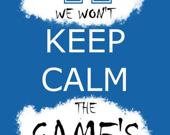 Kentucky Wildcats Basketball / Football - Graffiti Keep Calm - 13x19 Poster - FREE SHIPPING! (U.S. Residents Only)