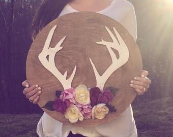 Custom Deer Antler Sign