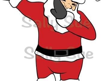 Santa Dab/SVG/Holidays/Christmas/clipart/hand drawn/digital image/personal/commercial