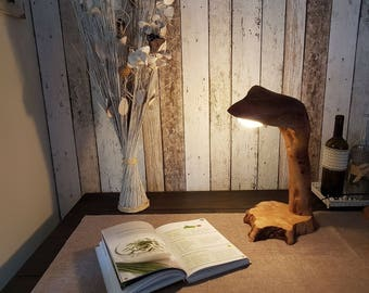 Table lamp - Walnut - table lamp - wood - desk lamp-Wood lamp
