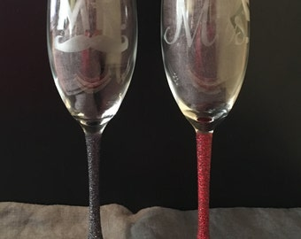 His & Hers Champagne Glasses