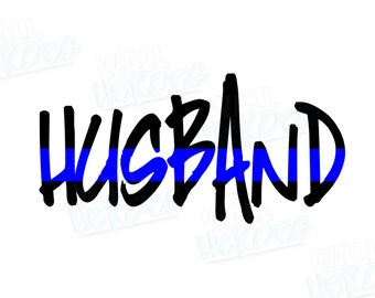 Husband Blue Line Car Decal | Car Decal | Window Decal | USA Decal | 2nd Amendment Decal | Gun lover | Gun rights | Gun owner | America