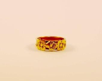 A Rare Georgian Gold Fede Gimmel Ring