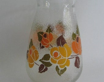 Vintage glass vase with flowers
