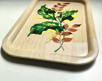 Mid Century Painted Metal Trays From The 1950's - American