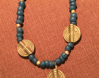 Blue African Beads IV