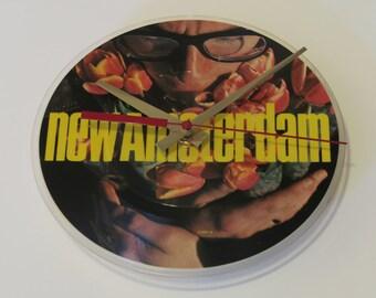 "Elvis Costello -- New Amsterdam, 7"" Vinyl Clock"