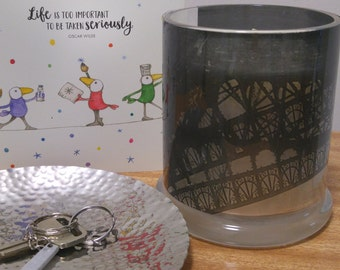French Pear Scented soy candle with photograph from Taylor Battista