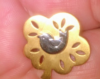 Vintage Avon partridge in a pear tree pin