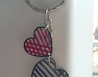 Cute heart shape keying. Pick your own colours!