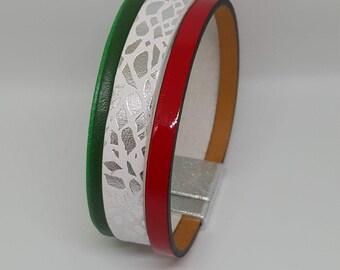 """ITALIA"" leather strap"
