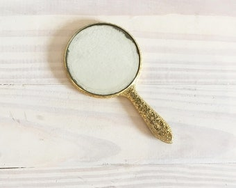 Vintage Hand Mirror, Small Mirror, Pocket Mirror, Purse Mirror, Vanity Mirror