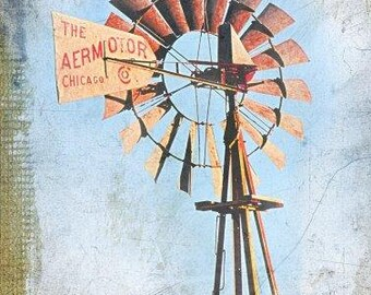 Texas Windmill Light Blue (Image is vertical)
