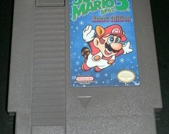 Super Mario Bros 3 Xmas Edition NES Nintendo Repro Hack