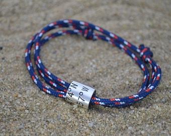 Mens bracelet, Personalized gift for boyfriend, Boyfriend Gift, Gifts for men, Personalized bracelet, Groomsmen, Anniversary gifts for men