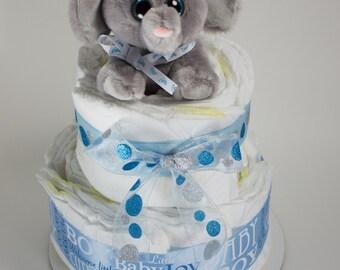 Baby Boy Diaper Cake # 2