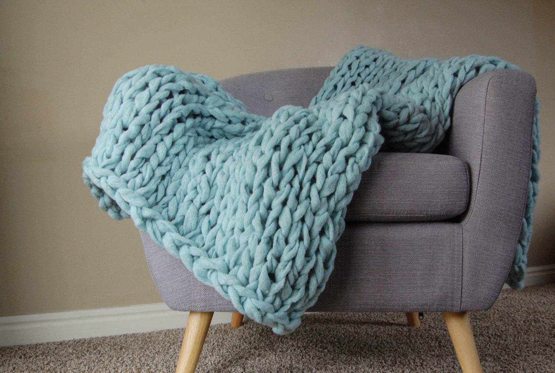grobstrick mint decke vegan decke klobige decke riesen. Black Bedroom Furniture Sets. Home Design Ideas