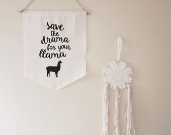 Save the Drama for Your Llama // gift // housewarming // for her // cute // funny