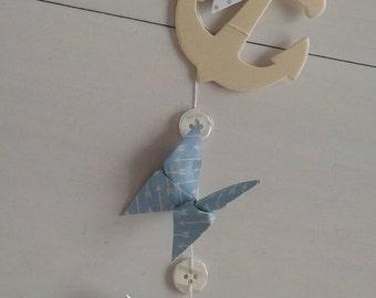 Mobile butterflies sailor and arrows