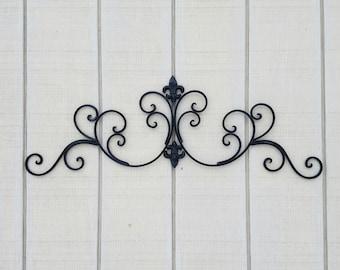 Black Metal Fleur De Lis Wall Decor Shabby Chic Home Black Wall Decor Wrought Iron Bedroom