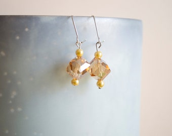 Champagne Crystal Dangle Earrings