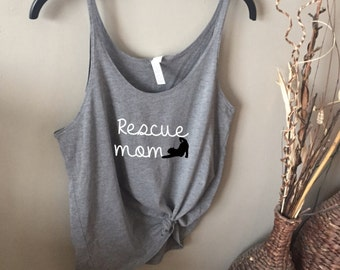 Rescue Mom Cat Super Slouchy Tank Top