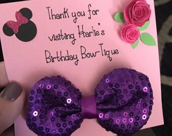Minnie's Bow-Tique Custom Birthday Party Favor